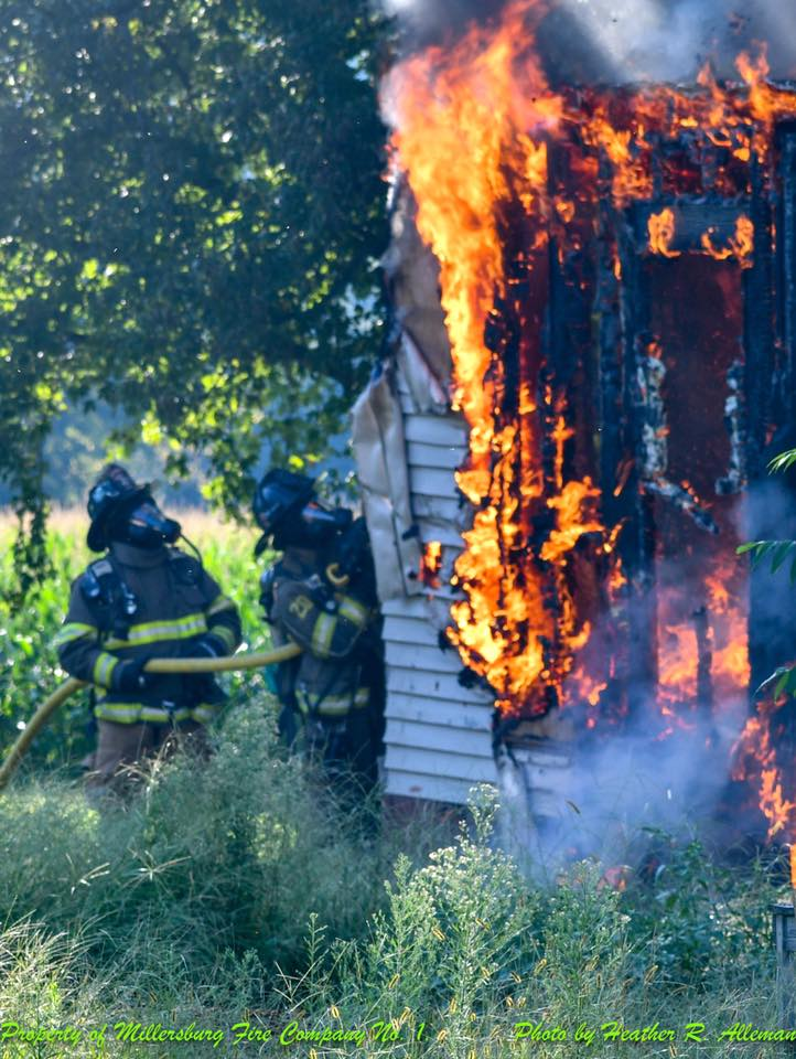 SHED FIRE IN PAXTON