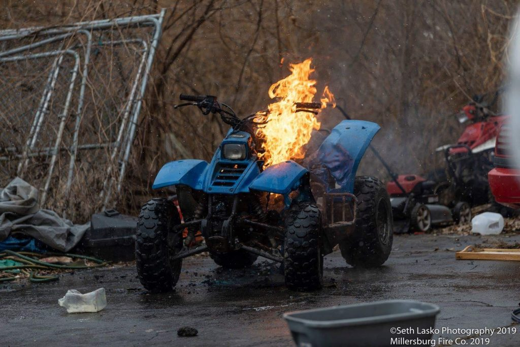 FOUR WHEELER ATV FIRE ON MARKET STREET