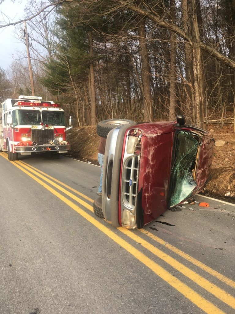 SINGLE VEHICLE ACCIDENT ON SHIPPEN DAM ROAD