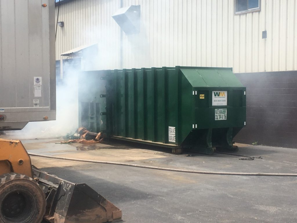 TRASH COMPACTOR FIRE