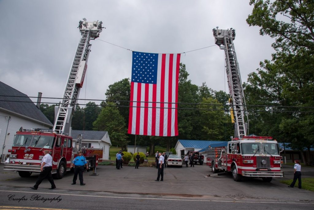 TRUCKS 20 and 22 ASSIST WITH FUNERAL DETAIL IN CARSONVILLE