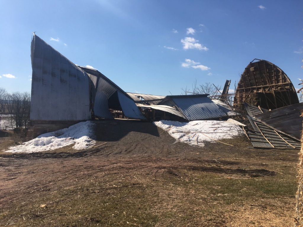 BUSY 24 HOURS WITH WIND STORM RESPONSES INCLUDING A BUILDING COLLAPSE