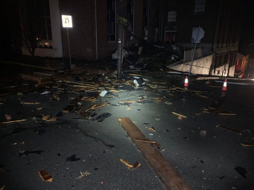 STORM DAMAGE KEEPS FIRE COMPANY BUSY IN EARLY MORNING