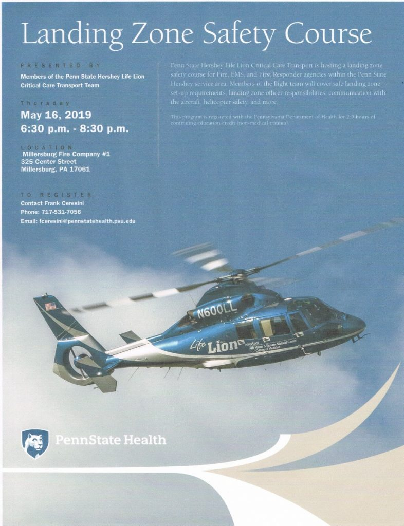 LIFE LION LANDING ZONE CLASS SCHEDULED FOR MAY 16, 2019