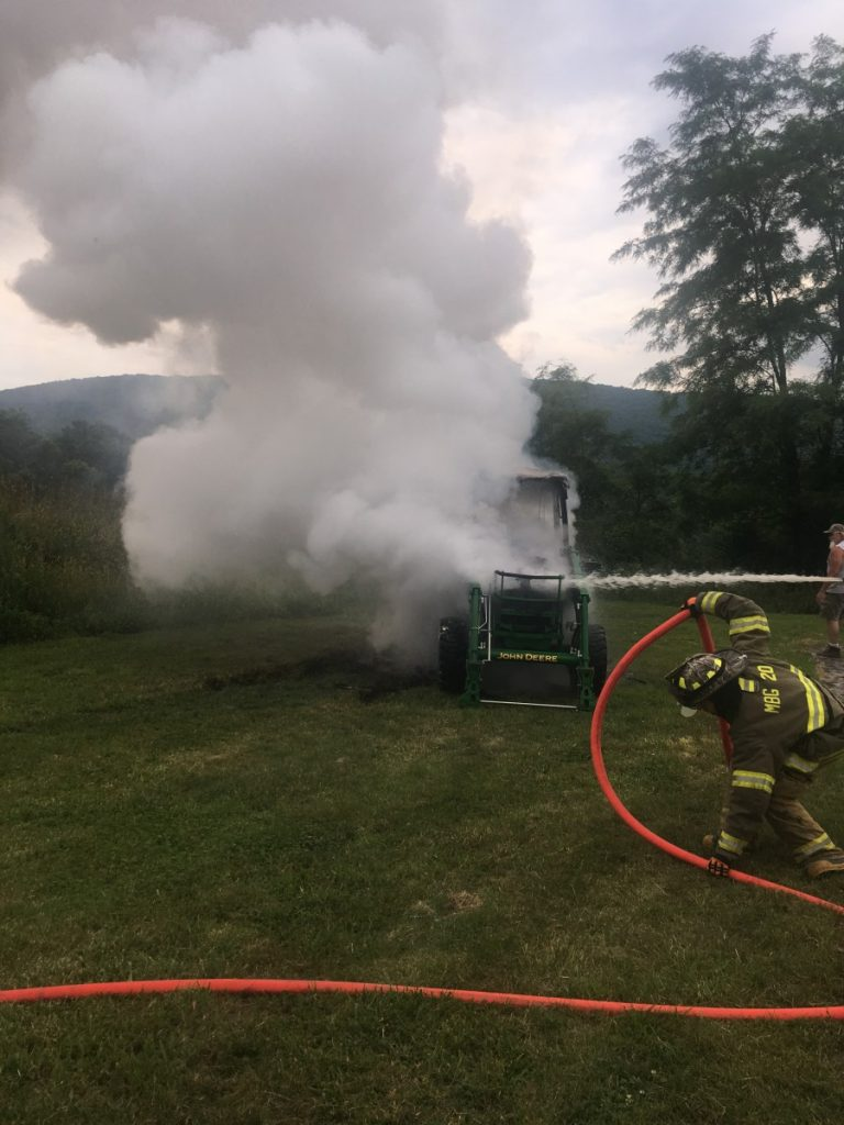 TRACTOR FIRE ON CHARLES ROAD